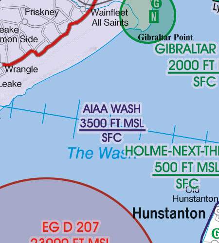 England VFR Luftfahrtkarte AIAA Areas Of Intense AirTraffic