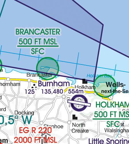 England VFR Luftfahrtkarte Naturschutzgebiete Fauna