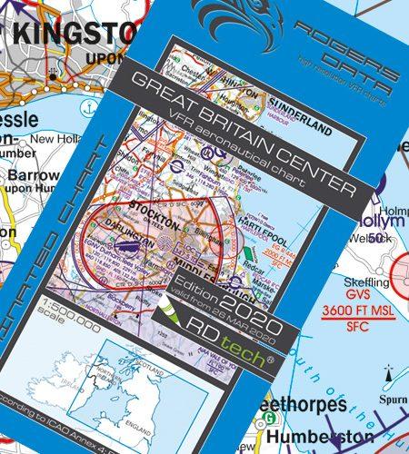 England Zentrum VFR Luftfahrtkarte - ICAO Karte 500k 2020