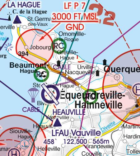 Frankreich VFR Luftfahrtkarte Modellflug