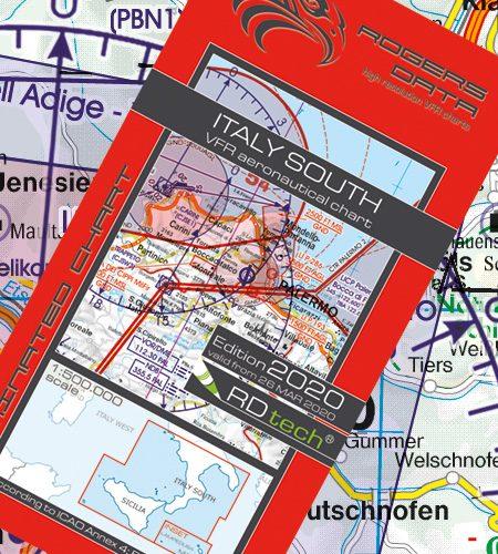 Italien Süd VFR Luftfahrtkarte - ICAO Karte 500k 2020