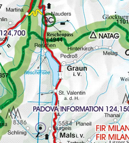 Italien VFR Luftfahrtkarte Grenzüberflugspunkte