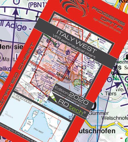 Italien West VFR Luftfahrtkarte - ICAO Karte 500k 2020