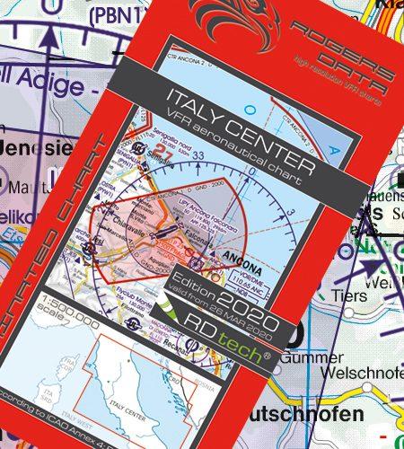 Italien Zentrum VFR Luftfahrtkarte - ICAO Karte 500k 2020