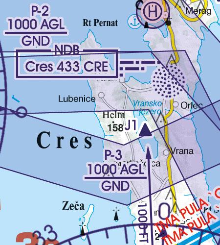 Kroatien Bosnien Herzegowina VFR Luftfahrtkarte Militär Tiefflugstrecken