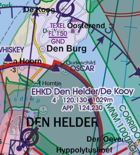 Niederlande VFR Luftfahrtkarte Anflugverfahren
