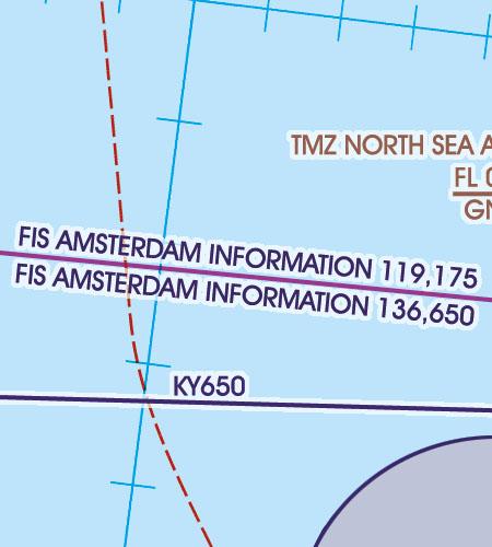 Niederlande VFR Luftfahrtkarte FIS Flight Information Service