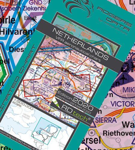 Niederlande VFR Luftfahrtkarte - ICAO Karte 500k 2020