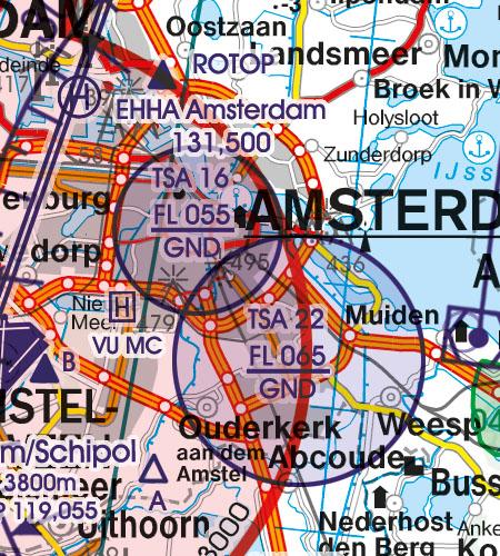 Niederlande VFR Luftfahrtkarte TSA