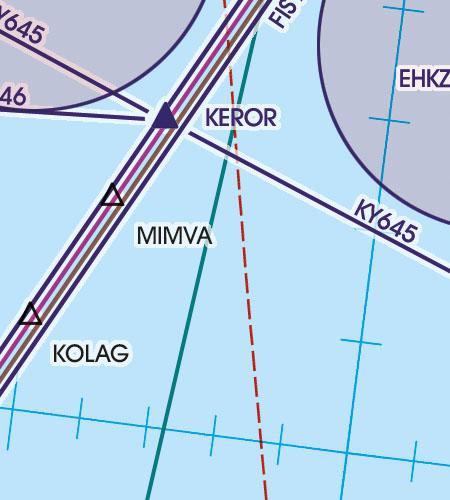 Niederlande VFR Luftfahrtkarte Transitstrecken