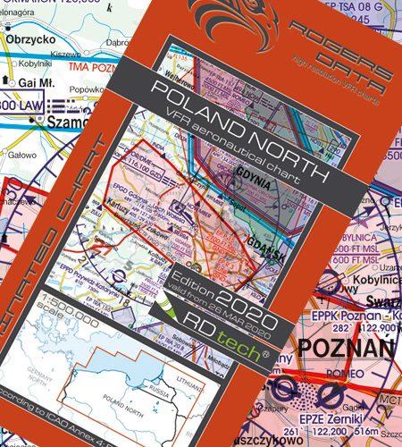 Polen Nord VFR Luftfahrtkarte - ICAO Karte 500k 2020