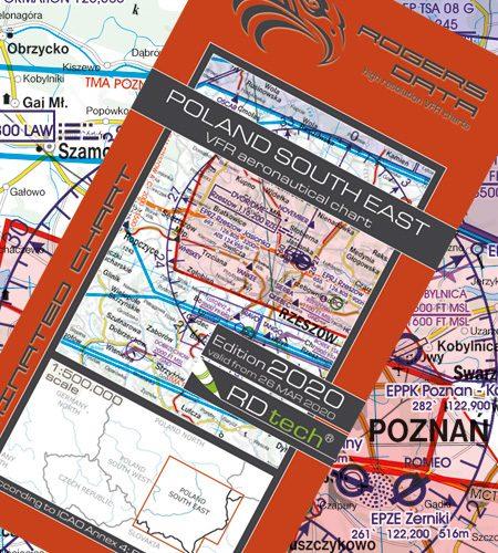 Polen Süd Ost VFR Luftfahrtkarte - ICAO Karte 500k 2020