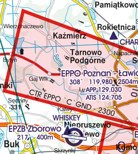 Polen VFR Luftfahrtkarte CTR Kontrollzone