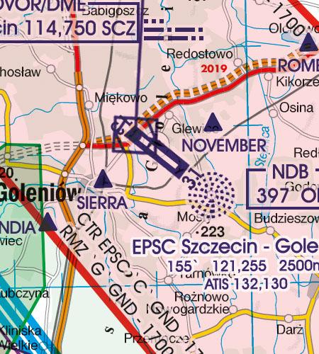 Polen VFR Luftfahrtkarte Flughafen