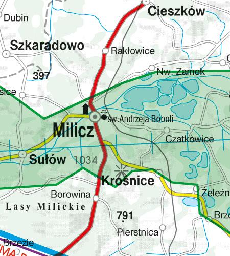 Polen VFR Luftfahrtkarte Naturschutzgebiet Fauna