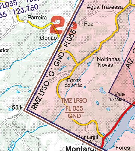 Portugal VFR Luftfahrtkarte TMZ Transponderpflicht