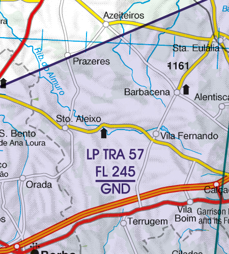 Portugal VFR Luftfahrtkarte TRA