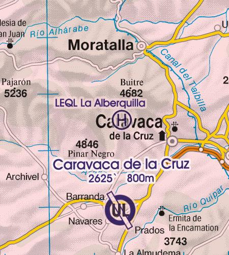 Spanien VFR Luftfahrtkarte Hubschrauberlandeplatz