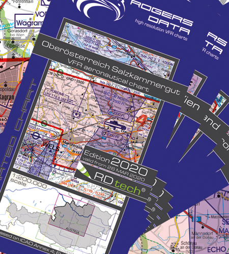 Rogers Data VFR ICAO Aeronautical Charts 1:200.000