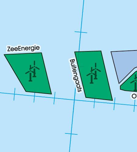Denmark VFR Aeronautical Chart Windfarm Area Windmills Offshore