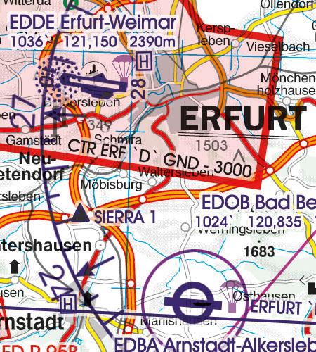 Deutschland VFR Luftfahrtkarte CTR Kontrollzone