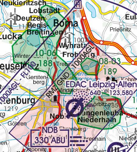 Deutschland VFR Luftfahrtkarte RMZ Funkkommunikationspflicht