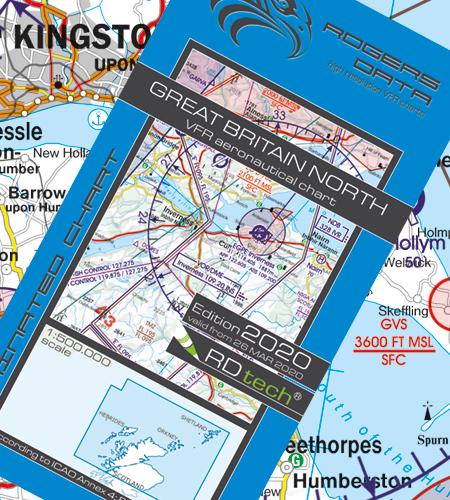 Great Britain North VFR Aeronautical Chart – ICAO Chart 500k 2020