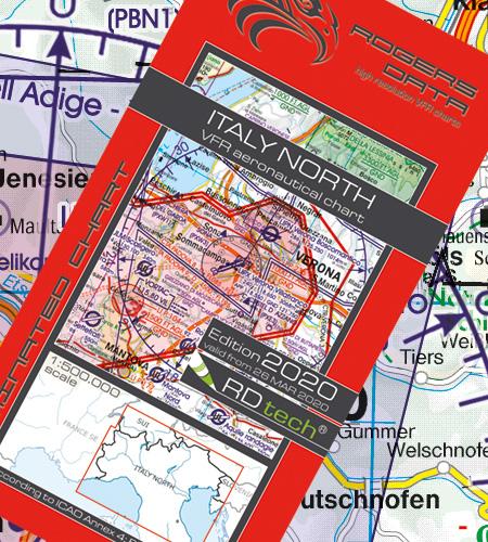 Italy North VFR Aeronautical Chart – ICAO Chart 500k 2020