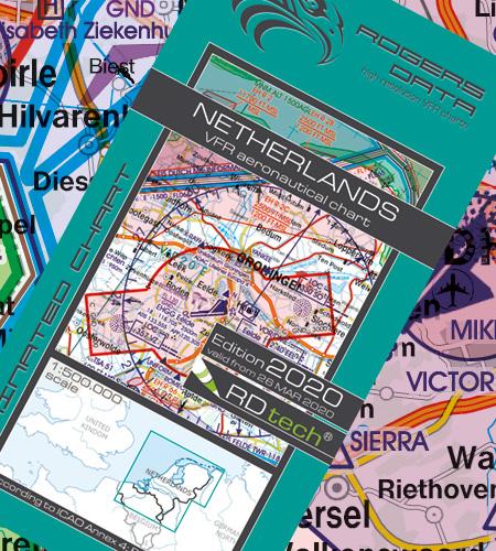 Netherlands VFR Aeronautical Chart – ICAO Chart 500k 2020