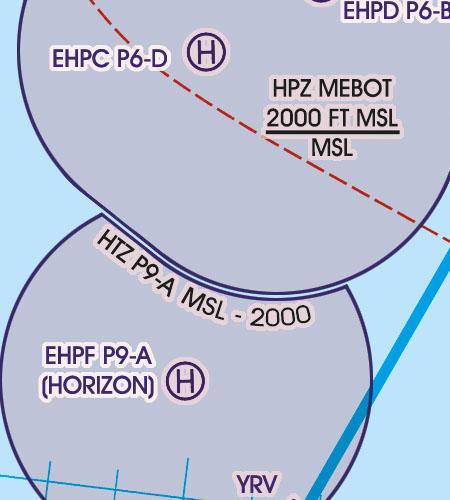 Netherlands VFR Aeronautical Chart HTZ HelicopterTraffic Zones