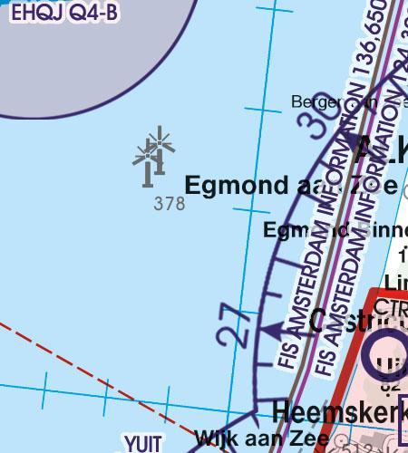 Netherlands VFR Aeronautical Chart windfarm windmills wind turbines offshore