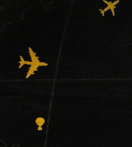 Oceanic-Control-Badetuch-Strandtuch-Rogers-Ballon-Flugzeug-Jet-Luftfahrt