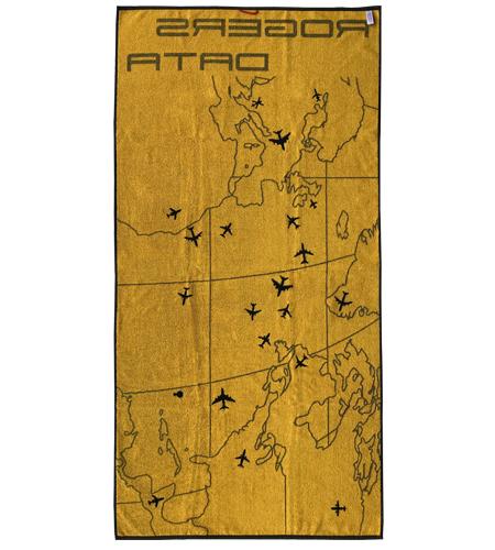 Oceanic-Control-Badetuch-Strandtuch-Rogers-Data-Rückseite-Gelb-Schwarz-Groß