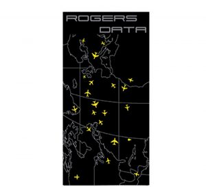 Rogers Data Badetuch Strandtuch Pilot