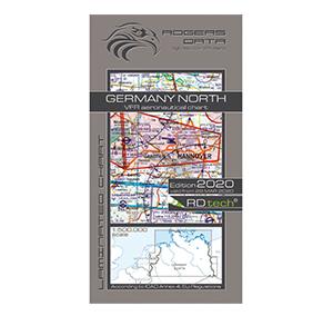 Rogers Data VFR Luftfahrtkarte ICAO Karte Deutschland Nord