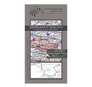 Rogers Data VFR Luftfahrtkarte ICAO Karte Deutschland Süd
