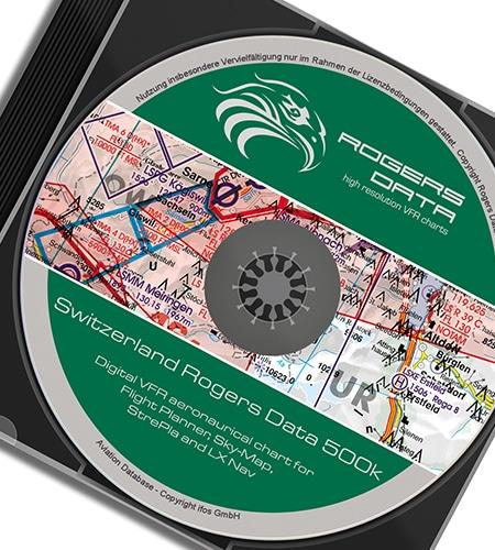 Digitale Karte Schweiz ICAO VFR Karte 500k