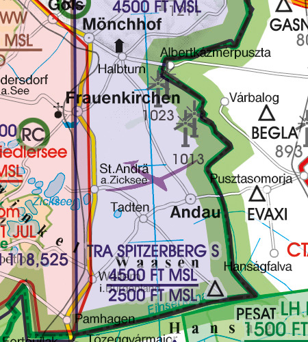 VFR Aeronautical Chart - ICAO