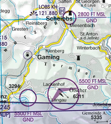VFR Luftfahrtkarte - ICAO Karte