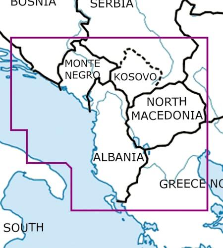Balkans VFR Aeronautical Chart – ICAO