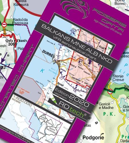 Balkan VFR Luftfahrtkarte - ICAO Karte