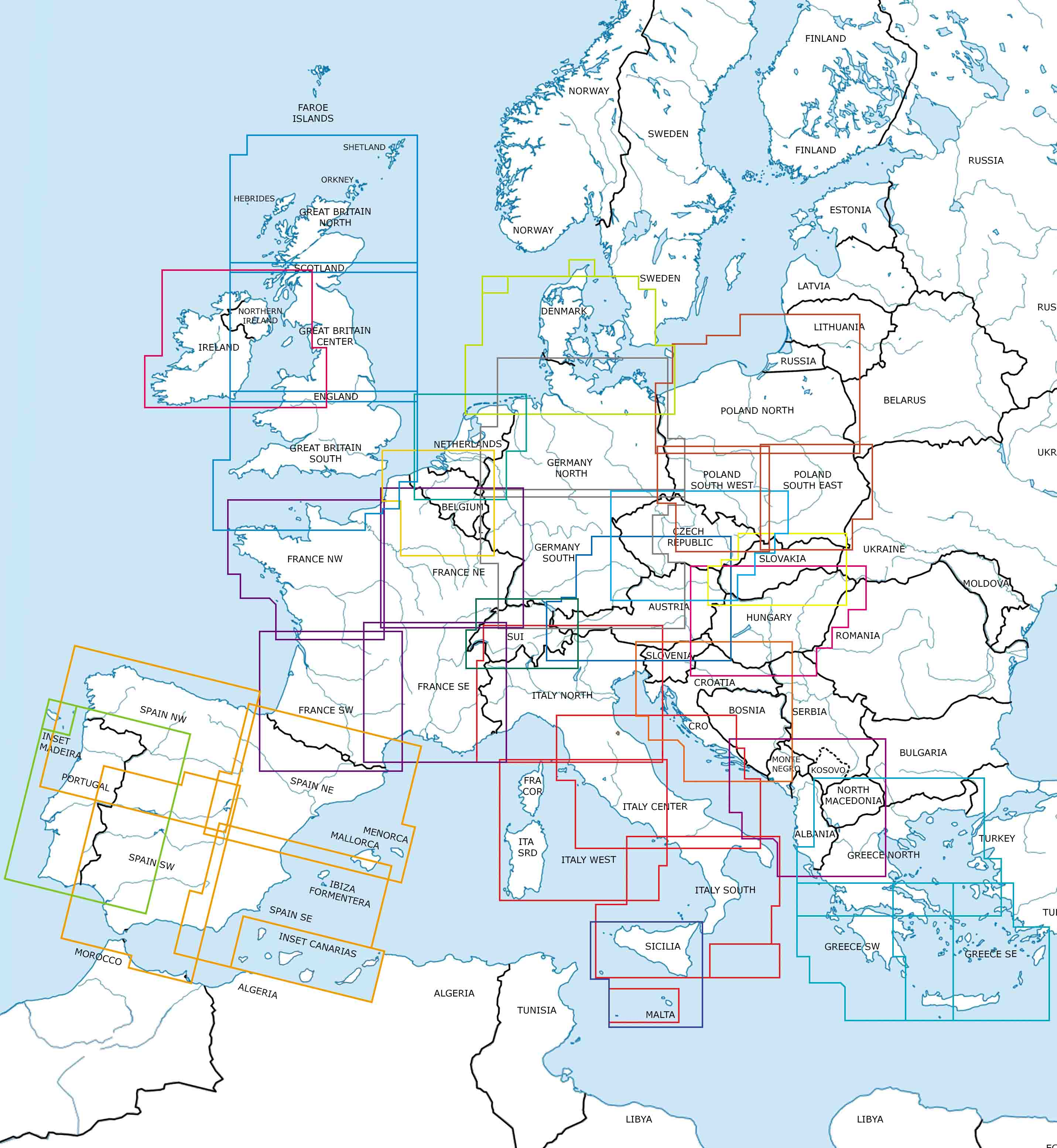 Rogers Data VFR Aeronautical Charts - ICAO Chart Europe