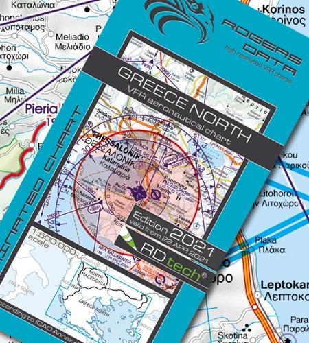 Griechenland Nord VFR Luftfahrtkarte ICAO Karte 2021