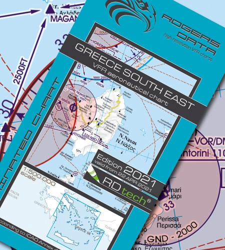 Griechenland Süd Ost VFR Luftfahrtkarte ICAO Karte 2021