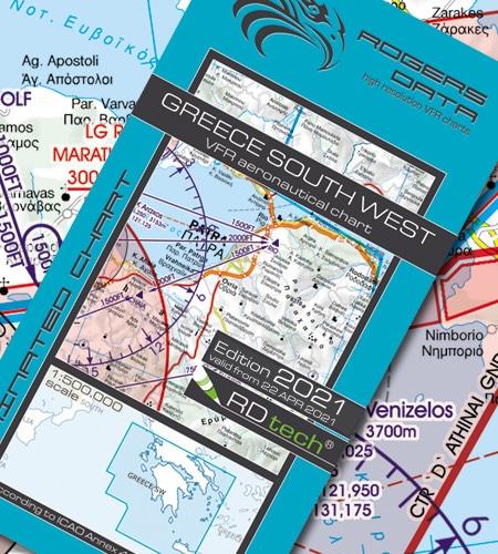 Griechenland Süd West VFR Luftfahrtkarte ICAO Karte 2021