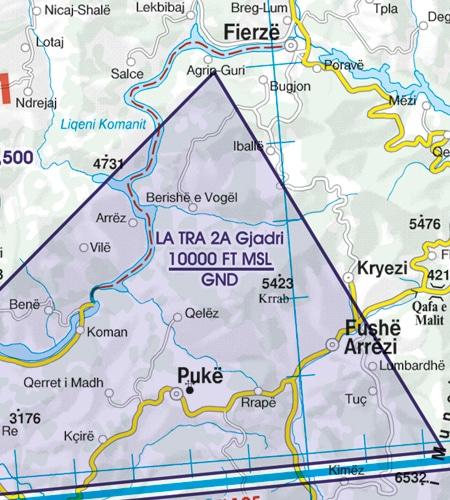 TRA Luftraumreservierung Balkans