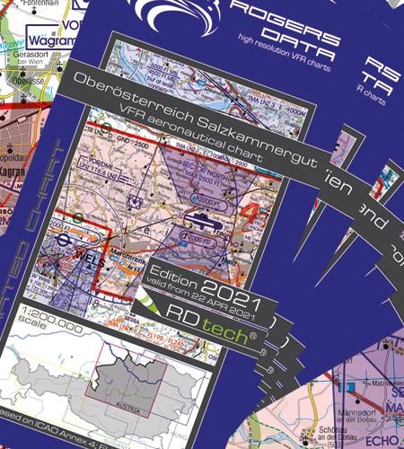 Österreich Set VFR Luftfahrtkarte ICAO Karte 2021