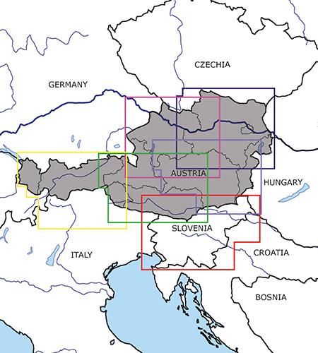 Österreich Slowenien VFR Luftfahrtkarten ICAO Karten