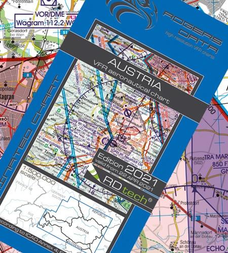 Österreich VFR Luftfahrtkarte ICAO Karte 2021