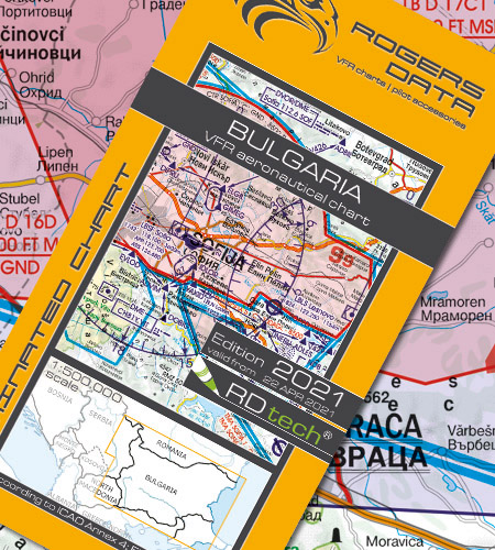 Bulgarien VFR Luftfahrtkarte ICAO Karte